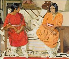 'Two Girls' (1928) Walter Ufer Wichita Public Schools collection