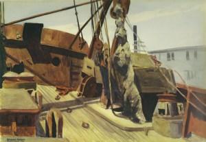 Bow of Beam Trawler Osprey (1926) Edward Hopper St Louis Art Museum