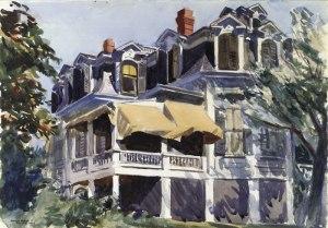 Mansard Roof (1923) Edward Hopper