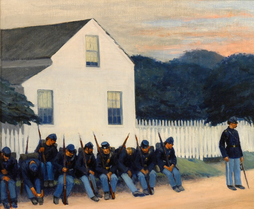 Dawn Before Gettysburg (1934) Edward Hopper Tuscaloosa Museum of Art