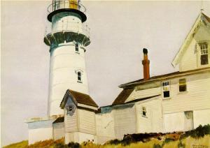 Light at Two Lights (1927) Edward Hopper Montgomery Museum of Fine Arts Montgomery Alabama watercolor