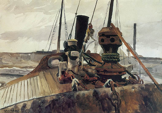 Bow of Beam Trawler Widgeon 1927 Edward Hopper