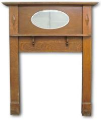 Edwardian mantel with oval mirror | Edwardian Fireplaces
