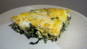 Sample Output: Vidalia Onion and Collard Frittata