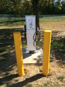 Image of the car charging station located at Edwardsville Township Community Park