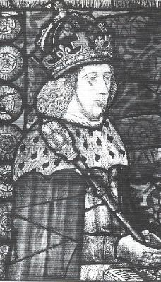 Edward IV, from a contemporary family portrait in glass, Canterbury Cathedral
