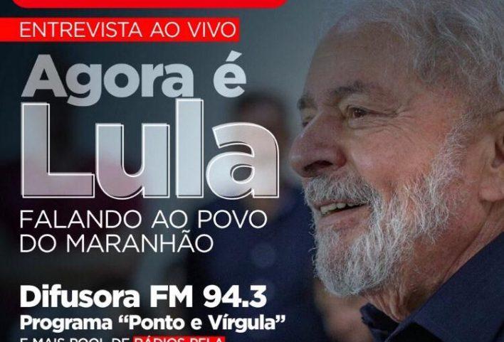 Hoje, 18h: Lula concede entrevista para emissoras de rádio no Maranhão