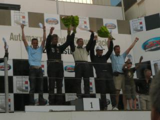 Podium Zandvoort 15 augustus 2009