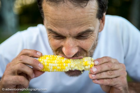 Yummy corn in camp