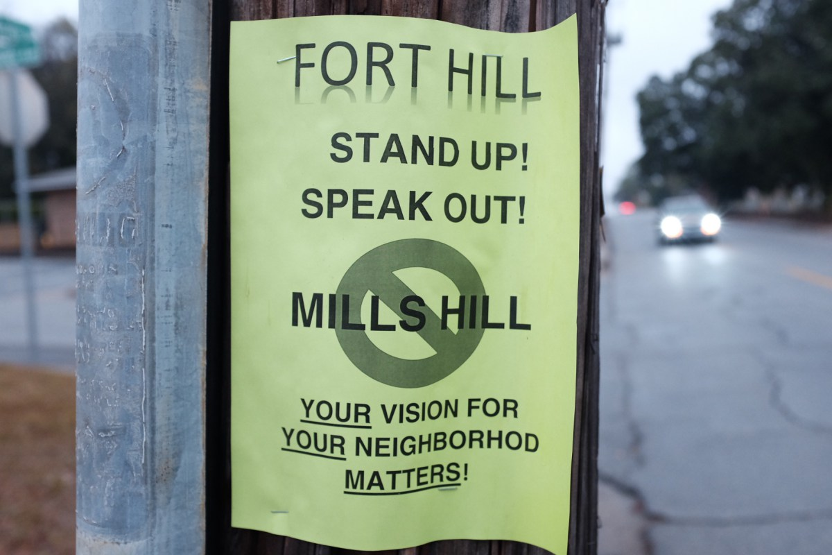 Flyer posted in Fort Hill by Danny D. Glover. (Image courtesy of the artists.)