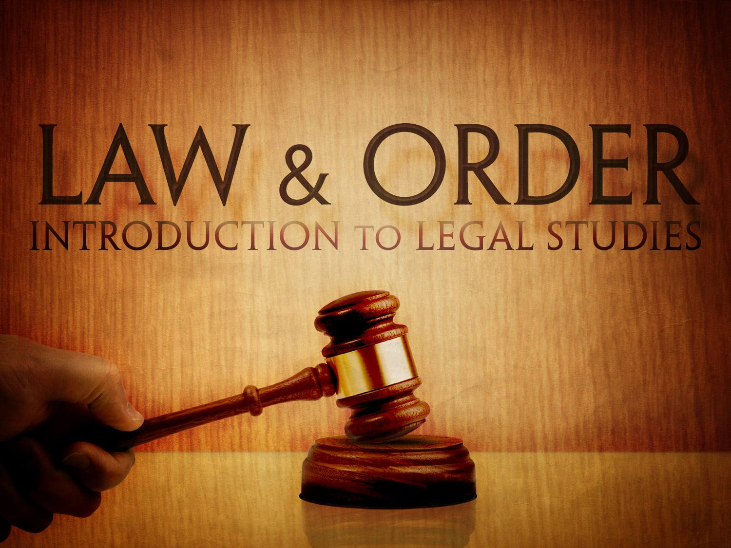 Law Amp Order Introduction To Legal Stu S