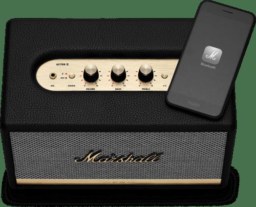 Marshall ACTONIIBTBLK Acton II Bluetooth Speaker - Black 8