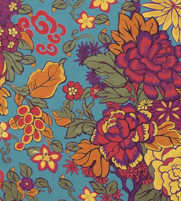 Garden - Turquoise Fabric Heritage Collection