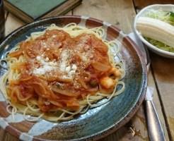 スパゲティ専門店タブキのえびとトマトのパスタ