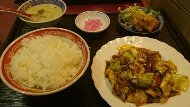 龍縁回鍋肉定食
