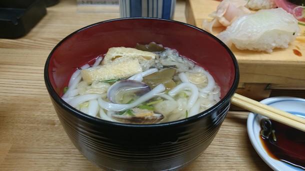 和歌寿司にぎり定食のうどん
