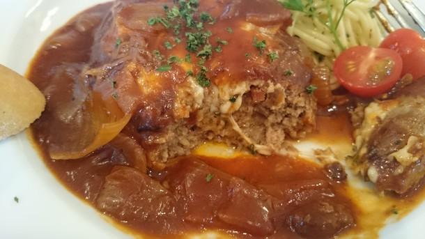 武蔵野食堂ハンバーグ