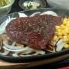 ボリュームステーキは黒毛和牛130g