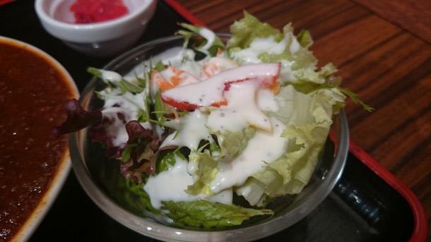 肉バル3丁目カレーのサラダ
