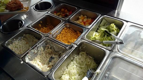 ケンタッキー小野原店サラダ