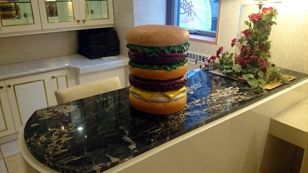 ハンバーガーの置物