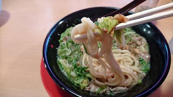 専用の太麺