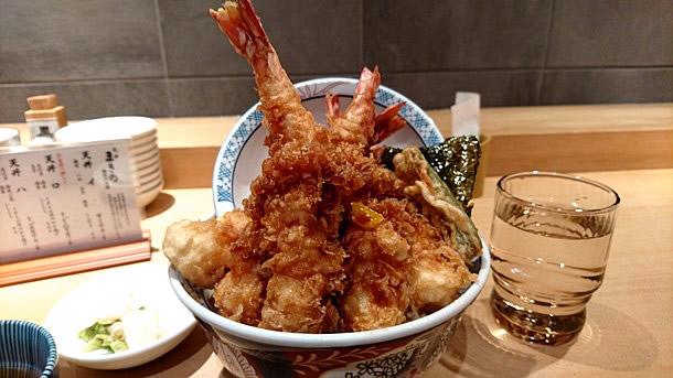 天然海老天丼1,390円
