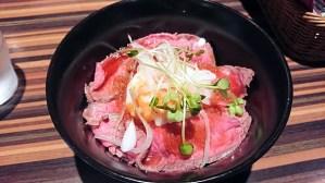 バルバレスコ難波店のローストビーフ丼!黒毛和牛のイチボを使った絶品!