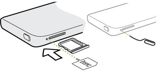 Htc one mini-inserting the SIM card