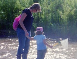 Wading at the ABQ BioPark.
