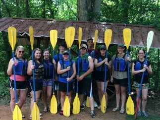 All geared up and ready for kayaking with the 2014-2015 FFA officer team from my chapter! It was my first time kayaking!