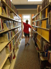 I only dance down aisles of library books.