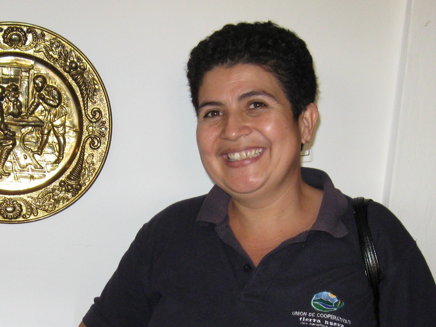 Agueda Ordenana, member of the Tierra Nueva Women's Commission
