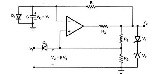 Monostable Multivibrators using Op-amp