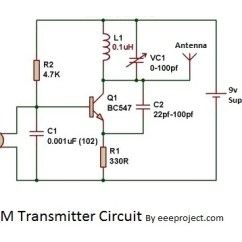 Fpv Transmitter Wiring Diagram 2 Gang Cooker Switch How To Make Fm Circuit With 3 Km Range
