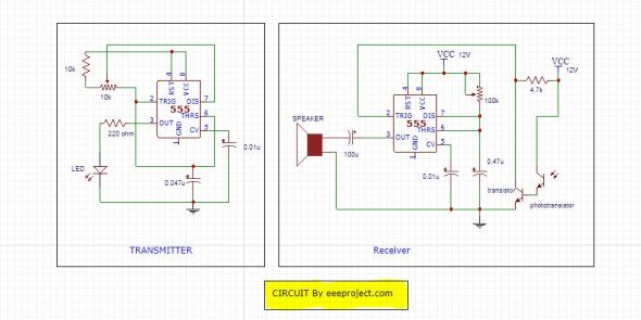 Motion detector circuit – working and application