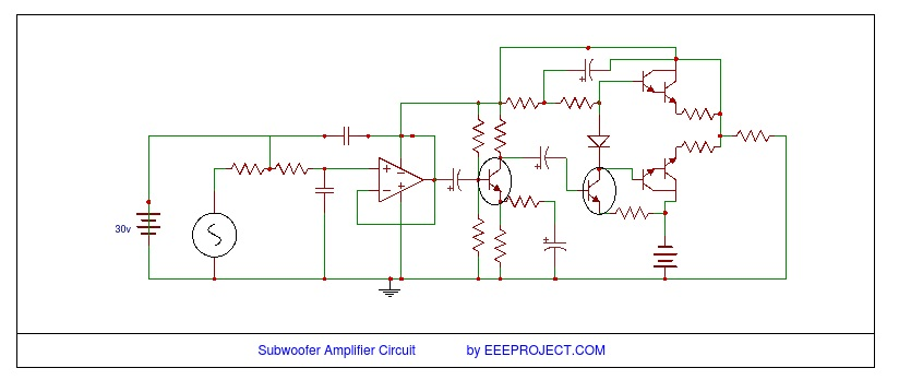 subwoofer amplifier circuit [explained] with application subwoofer preamplifier circuit subwoofer amplifier circuit diagram