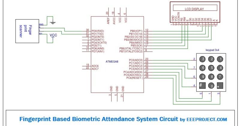Fingerprint Based Attendance System Circuit