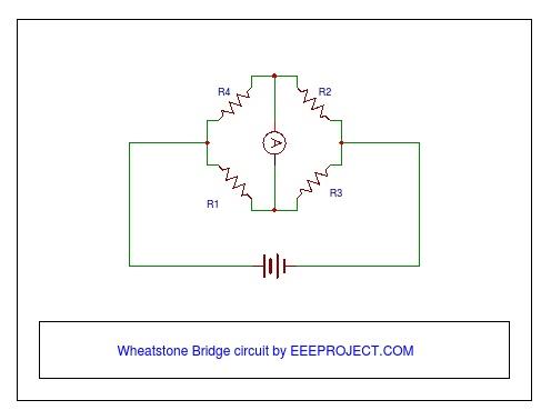 wheatstone bridge circuit principle and application explainedwheatstone bridge circuit