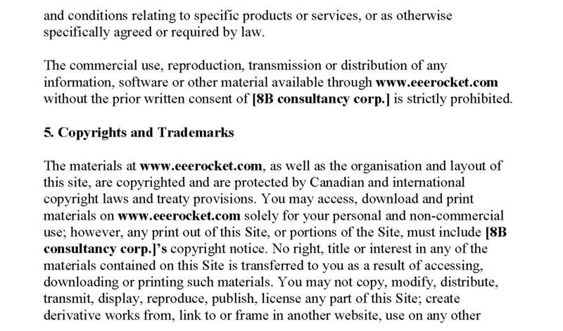 Terms and Conditions – eeerocket