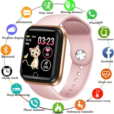 LIGE Smart Watch Women Fitness Tracker Heart Rate Blood Pressure Monitor Pedometer For Android ios Health Smart Sport Watch +Box