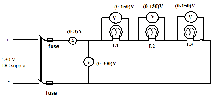Voltage and Current Measurement in Series Combination