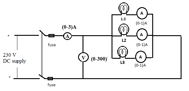 Voltage and Current Measurement in Parallel Combination