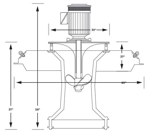 Floating Aerator spec drawing