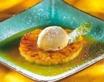 Ananas met Vanillesaus en Rum, wordt bereid in Les 8 van Kookcursus Een Beetje Beter