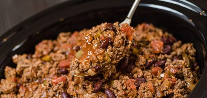 Langzaam Gegaarde Chili con Carne Puur
