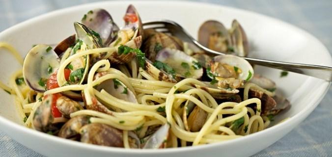 Spaghetti met Venusschelpen