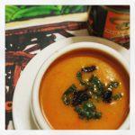 Geroosterde Rode Peper Curry Soep