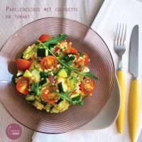 Parelcouscous met courgette en tomaat