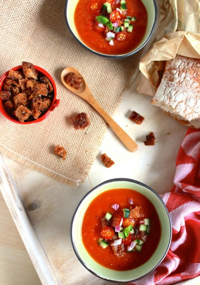 Gazpacho van geroosterde groenten / www.eenlepeltjelekkers.be